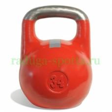 Гиря спортивная цветная 34 кг