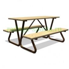 Стол со скамьями для настольных игр ДП005